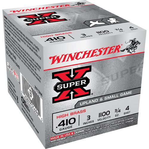 Winchester Super-X® .410 Caliber Lead Shot High Brass Game Load 4 Shotshells