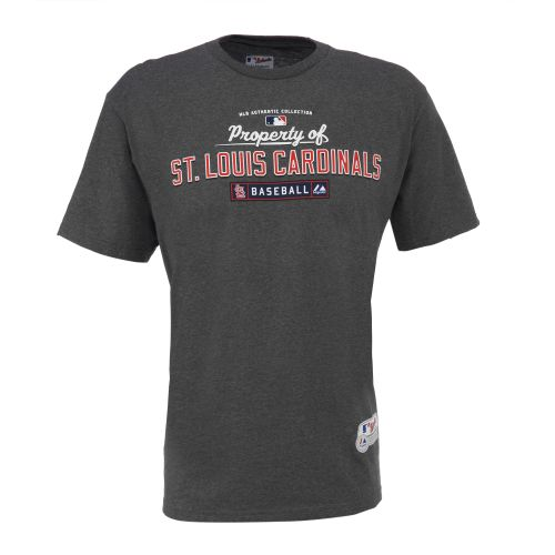 Majestic Adults' AC MLB Property of St. Louis Cardinals T-shirt