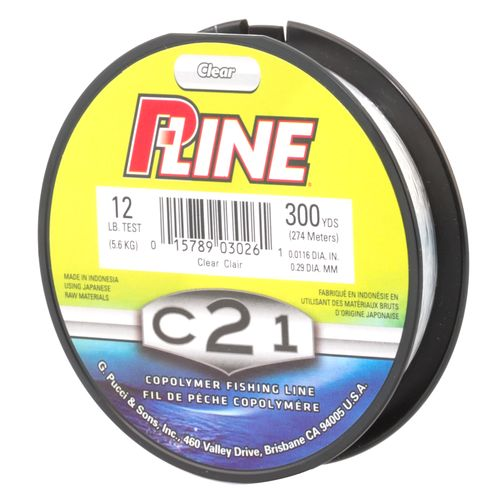 academy p line c21 12 lb 300 yards copolymer fishing line