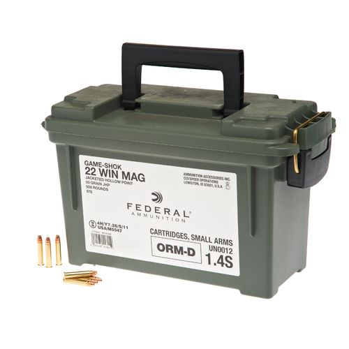 Federal premium 174 ammunition 22 wmr 50 grain jhp rimfire ammunition