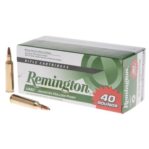 Remington UMC® .22-250 Remington 45-Grain Centerfire Rife Ammunition