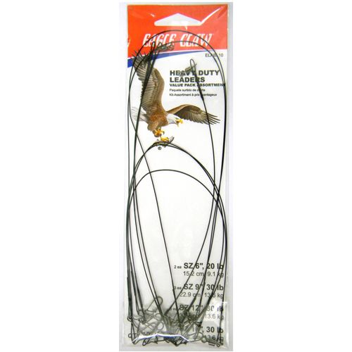 Display product reviews for Eagle Claw Steel Leaders 10-Pack