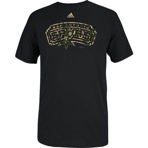 adidas™ Men's San Antonio Spurs Camo Logo T-shirt