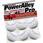 Heater Sports PowerAlley Leather Pitching Machine Baseballs 6-Pack