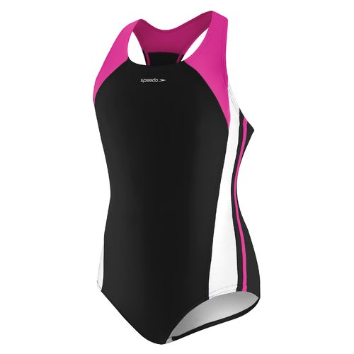 Display product reviews for Speedo Girls' Infinity Splice Xtra Life Lycra Fiber Swimsuit
