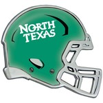 Stockdale University of North Texas Chrome Metal Helmet Auto Emblem