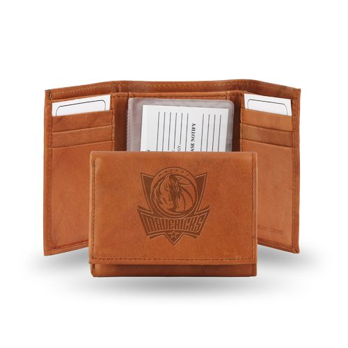 Rico Dallas Mavericks Embossed Trifold Leather Wallet