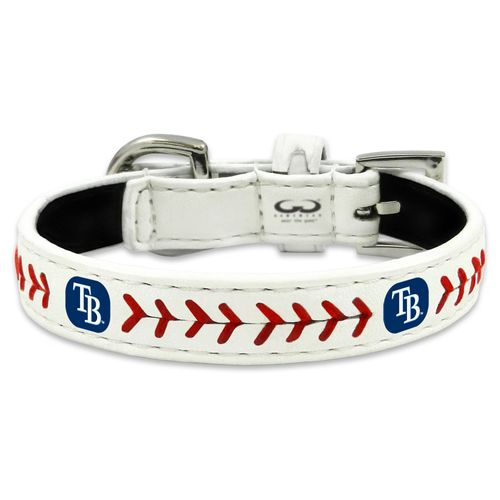 GameWear Tampa Bay Rays Classic Leather Toy Baseball Dog Collar