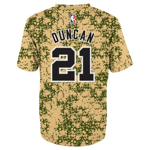 NBA Toddlers' San Antonio Spurs Tim Duncan #21 Camo Performance T-shirt