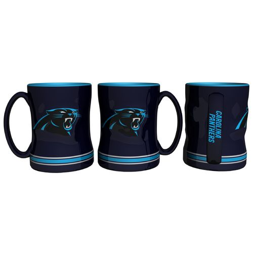 Boelter Brands Carolina Panthers 14 oz. Relief-Style Coffee Mug