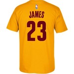 adidas Men's Cleveland Cavaliers LeBron James No. 23 High Density T-shirt - view number 2