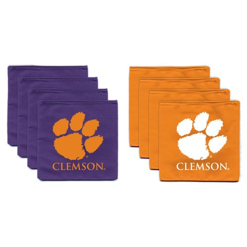 BAGGO® Clemson University 9.5 oz. Replacement Beanbag Toss Beanbags 8-Pack