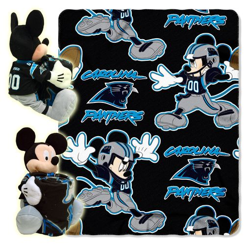 The Northwest Company Carolina Panthers Mickey Mouse Hugger and Fleece Throw Set