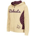 Colosseum Athletics Girls' Texas State University Polka Poly Fleece Hoodie