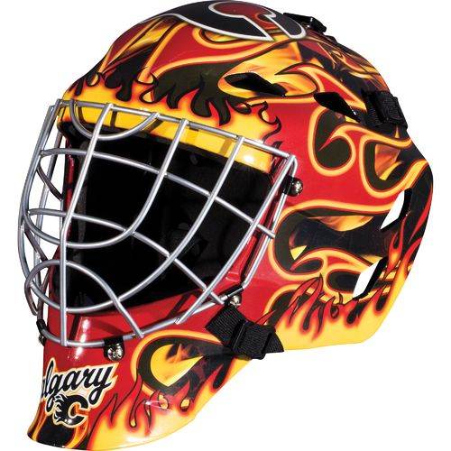 Franklin Boys' Calgary Flames GFM 1500 Goalie Face Mask