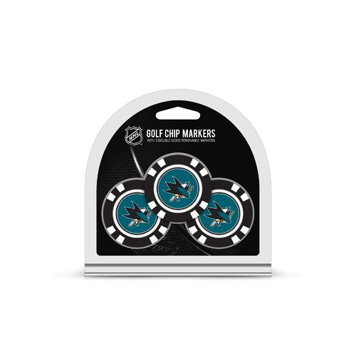 Team Golf San Jose Sharks Poker Chip and Golf Ball Marker Set - view number 1