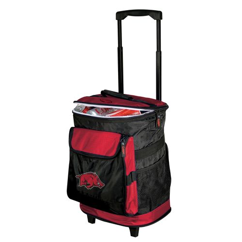 Logo University of Arkansas 48-Can Rolling Cooler