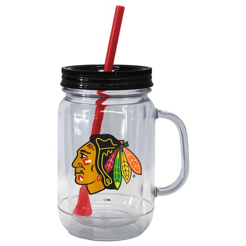 Boelter Brands Chicago Blackhawks 20 oz. Handled Straw Tumblers 2-Pack