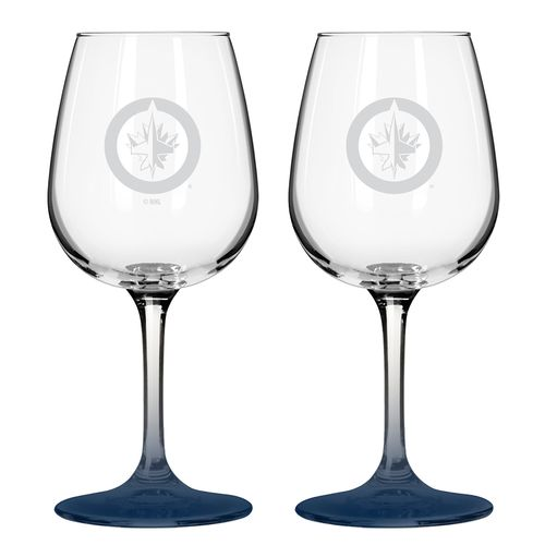 Boelter Brands Winnipeg Jets 12 oz. Wine Glasses 2-Pack