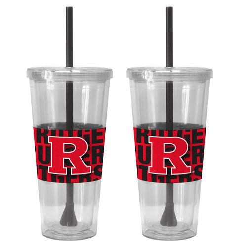 Boelter Brands Rutgers University Bold Neo Sleeve 22 oz. Straw Tumblers 2-Pack