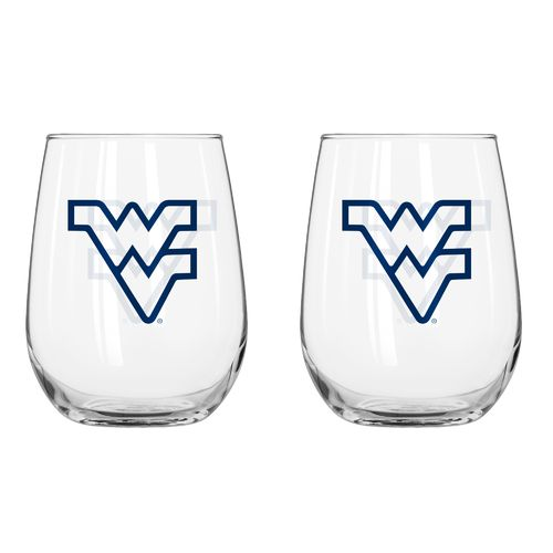 Boelter Brands West Virginia University 16 oz. Curved Beverage Glasses 2-Pack