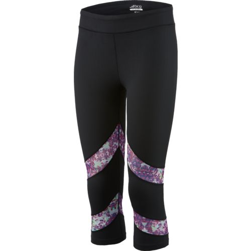 BCG™ Women's Printed Powermesh Panel Capri Pant