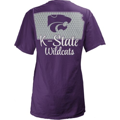 Three Squared Juniors' Kansas State University State Monogram Anchor T-shirt