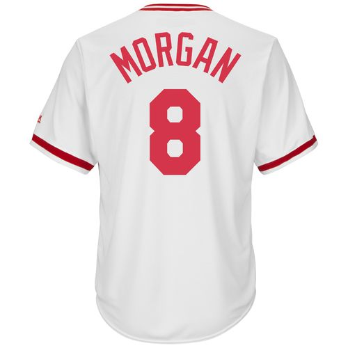 Majestic Men's Cincinnati Reds Joe Morgan #8 Cooperstown Cool Base 1978 Replica Jersey