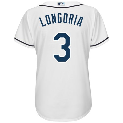 Majestic Women's Tampa Bay Rays Evan Longoria #3 Cool Base Replica Home Jersey - view number 1