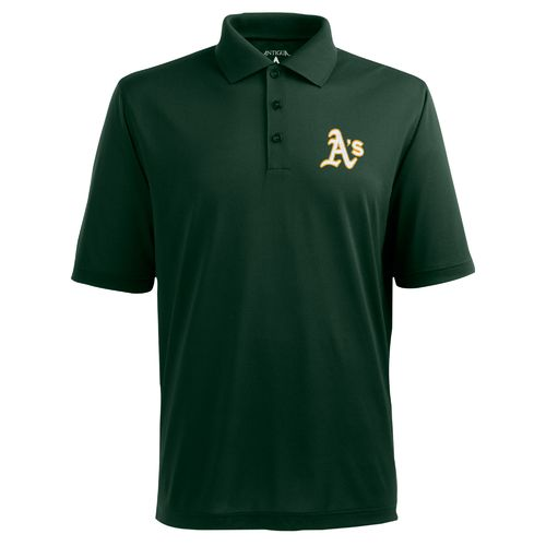 Antigua Men's Oakland Athletics Piqué Xtra-Lite Polo Shirt