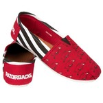 Forever Collectibles™ Women's University of Arkansas Canvas Stripe Shoes