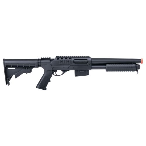 Display product reviews for Crosman Game Face VooDoo™ 6mm Caliber Airsoft Shotgun