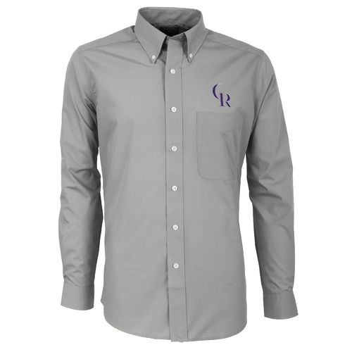 Antigua Men's Colorado Rockies Dynasty Long Sleeve Button Down Shirt