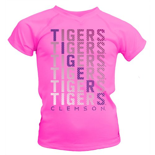 Soffe Girls' Clemson University Performance V-neck T-shirt