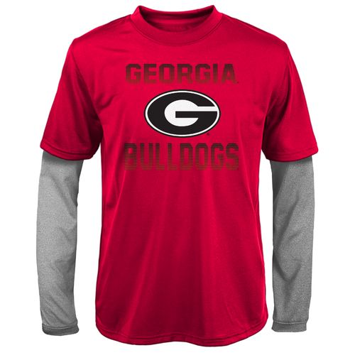 Gen2 Kids' University of Georgia Bleachers Double Layer Long Sleeve T-shirt