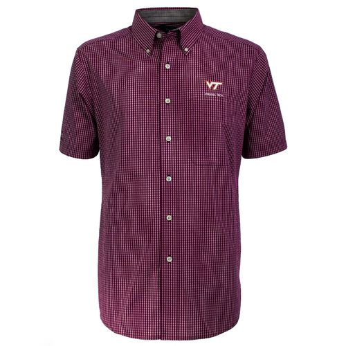 Antigua Men's Virginia Tech League Short Sleeve Shirt