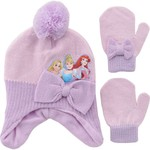ABG Accessories Girls' Cold Weather Princess Hat and Mittens Set