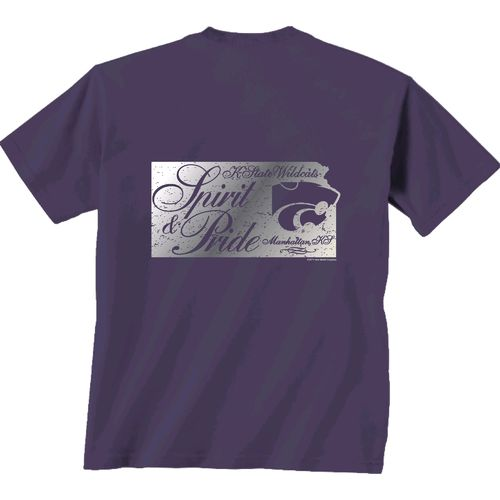 New World Graphics Women's Kansas State University Silver State Distress T-shirt