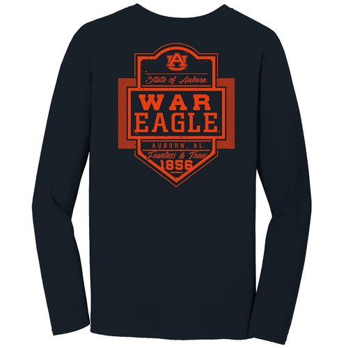 Image One Men's Auburn University Finest Shield Comfort Color Long Sleeve T-shirt