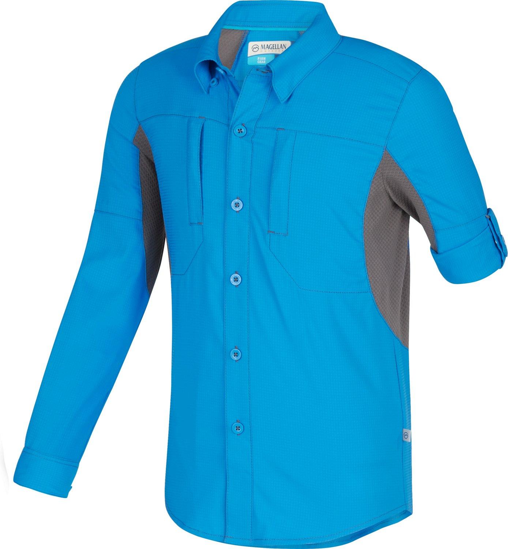 Display product reviews for Magellan Outdoors Boys' Falcon Lake Long Sleeve Fishing Shirt
