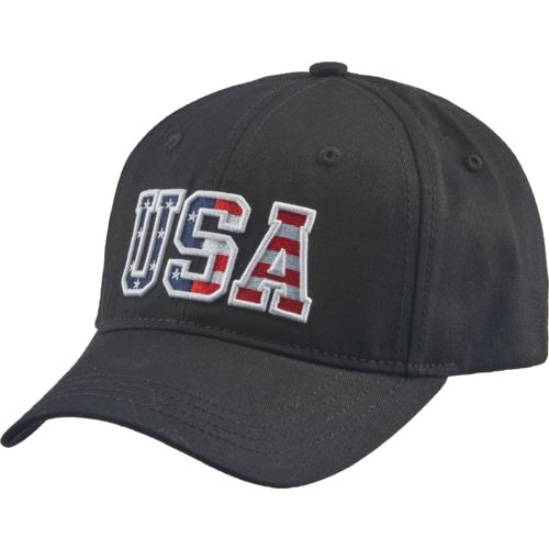 Academy Sports + Outdoors Men's Bold Embossed USA Logo Hat