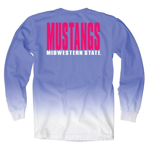 Blue 84 Women's Midwestern State University Ombré Long Sleeve Shirt - view number 1