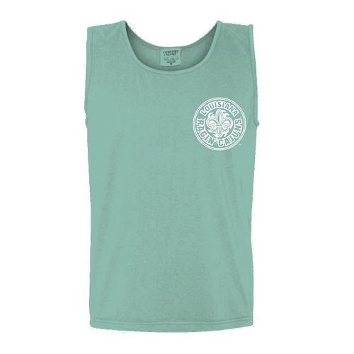 New World Graphics Women's University of Louisiana at Lafayette Circle Flowers Tank Top - view number 2