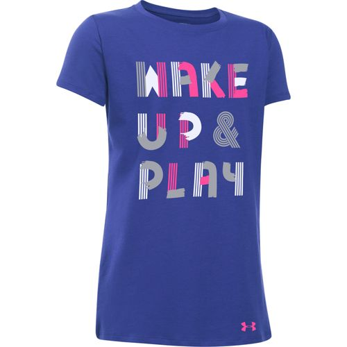 Under Armour Girls' Wake Up And Play Short Sleeve T-shirt