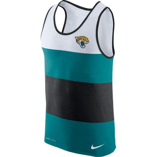 Nike Men's Jacksonville Jaguars Dry Stripe Tank Top - view number 1