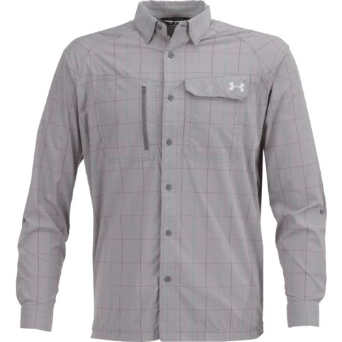Under Armour Men's Fish Hunter Plaid Long Sleeve Shirt