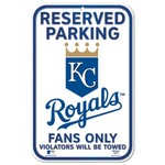 WinCraft Kansas City Royals Reserved Parking Plastic Sign - view number 1