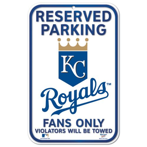 WinCraft Kansas City Royals Reserved Parking Plastic Sign