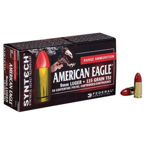 Federal® American Eagle® Syntech™ Training 9mm Luger 115-Grain Ammunition - view number 1