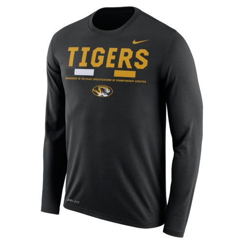 Nike™ Men's University of Missouri Dry Legend Long Sleeve Staff T-shirt